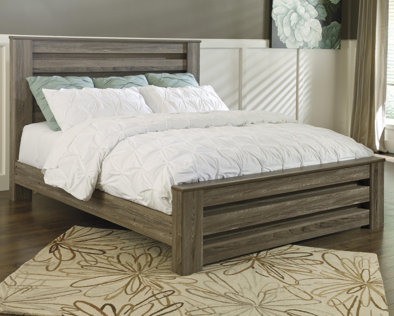 barnwood king panel bed