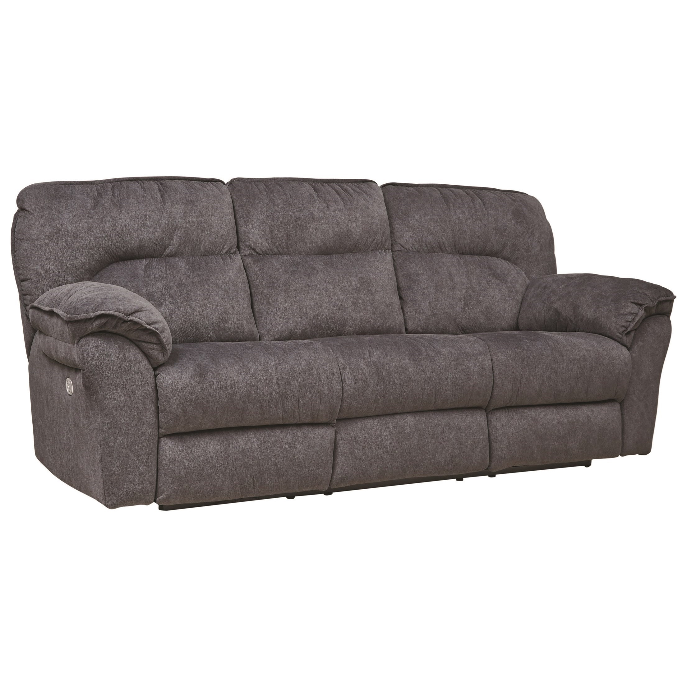 Southern Motion Full Ride 763 63p Casual Power Headrest Double Reclining Sofa With Dropdown Table Hudson S Furniture Reclining Sofas