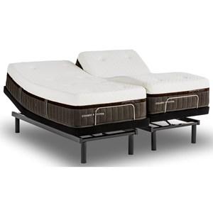 Stearns Foster Luxury Estate Hybrid Brooklet Queen Cushion Firm Adjule Set