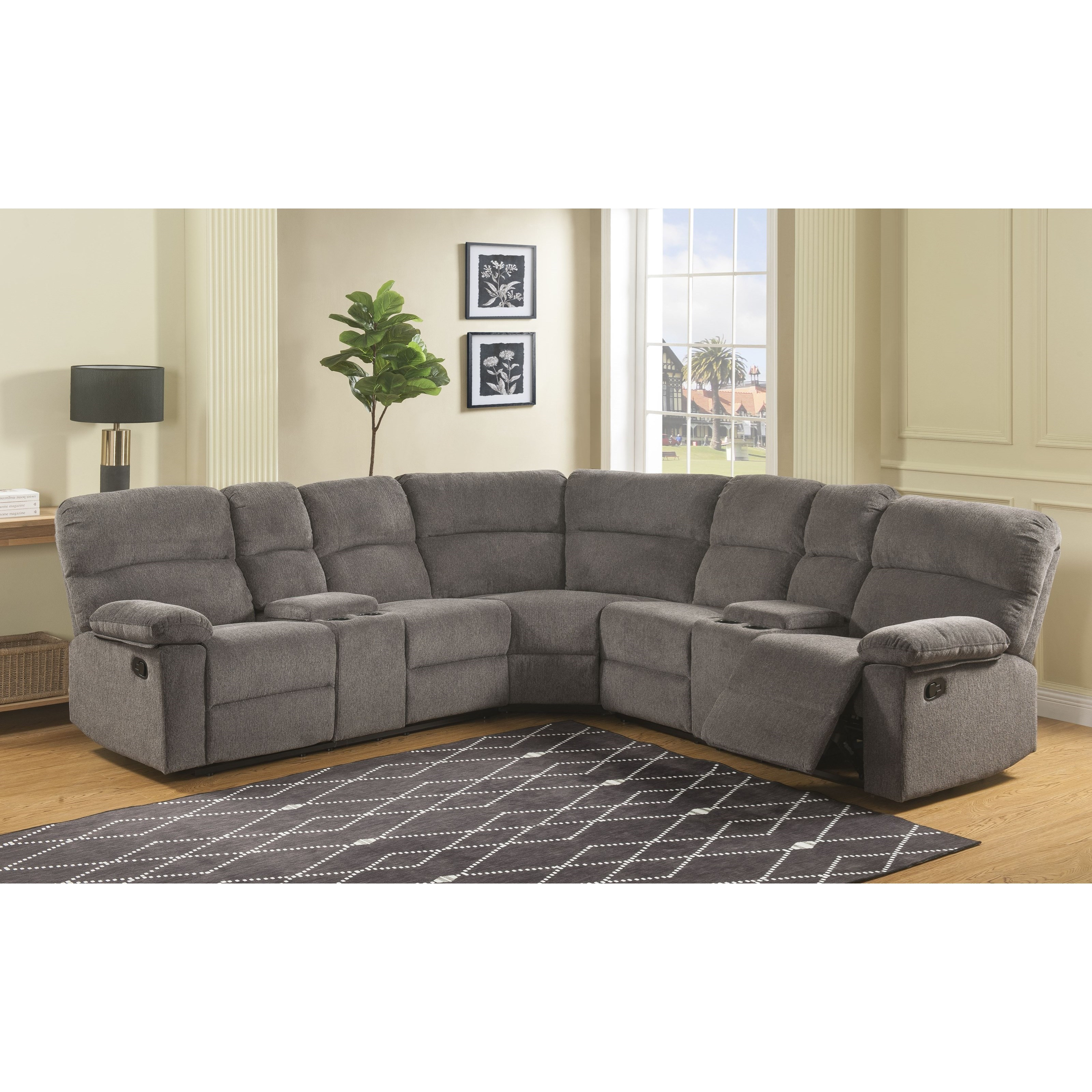 conan 4 seat reclining sectional sofa