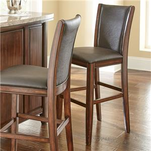 Steve Silver Eileen 8 Piece Marble Topped Counter Table With Upholstered Side Chair And Stool