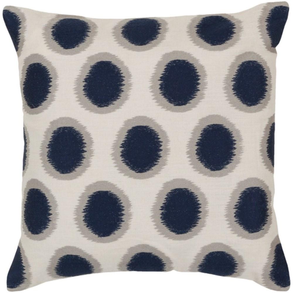 surya ikat dots 18 x 18 x 0 25 pillow