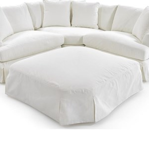 1300 oversized slipcover ottoman for corner sectional by synergy home furnishings at baer s furniture