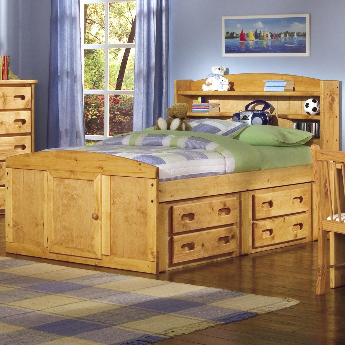 Trendwood Bunkhouse Twin Bookcase Headboard Captain S Bed