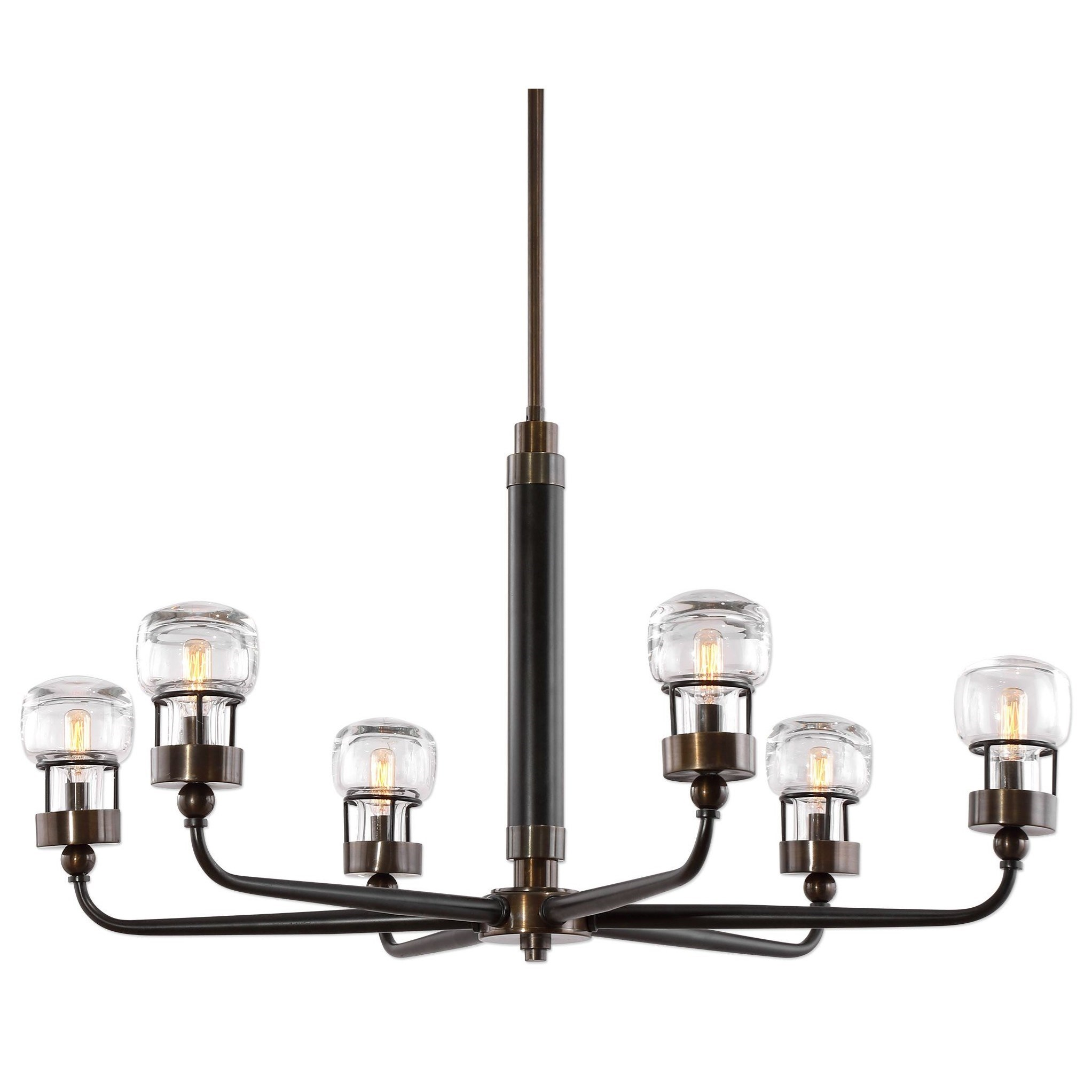 Uttermost Lighting Fixtures Graham 6 Light Bronze