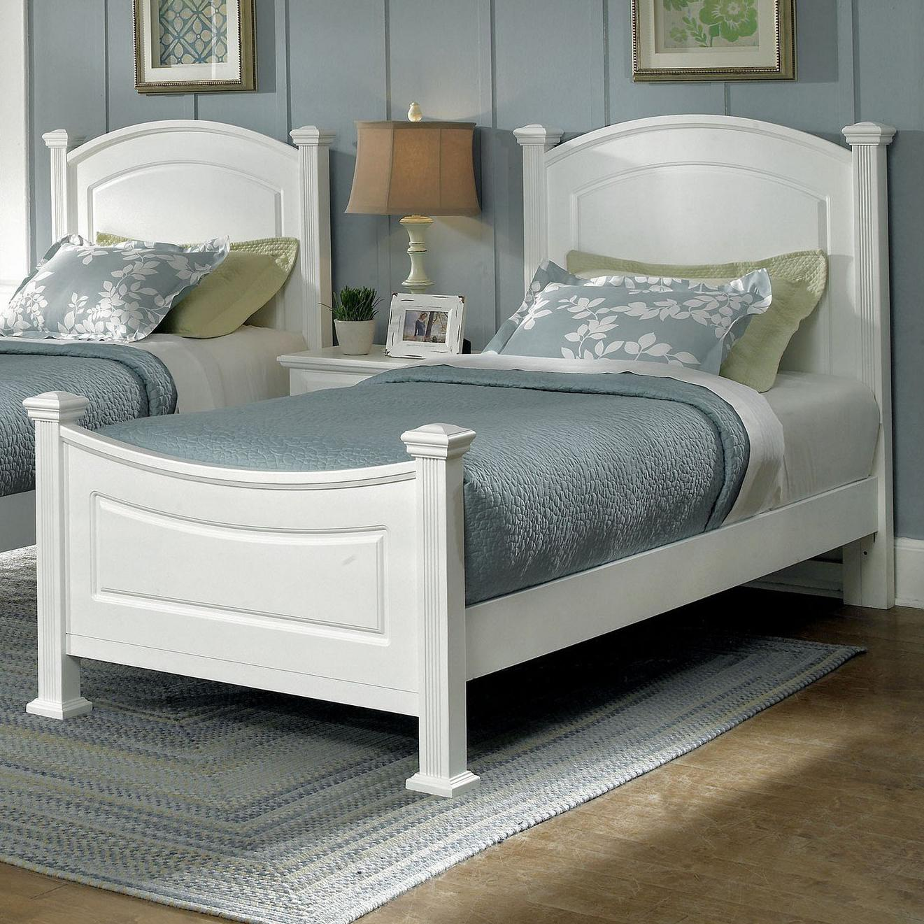 Vaughan Bassett Hamilton Franklin Twin Panel Bed Dunk Bright Furniture Panel Beds
