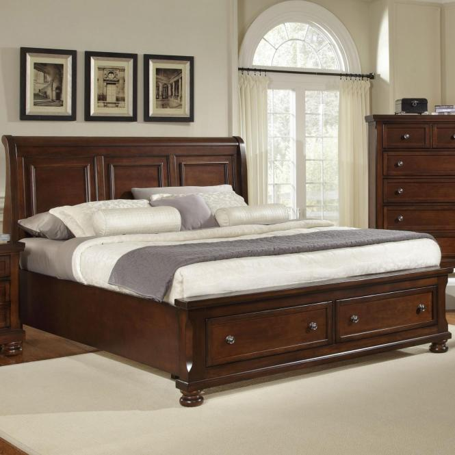 Vaughan Bassett Reflections King Storage Bed With Sleigh Headboard Item Number 530 663
