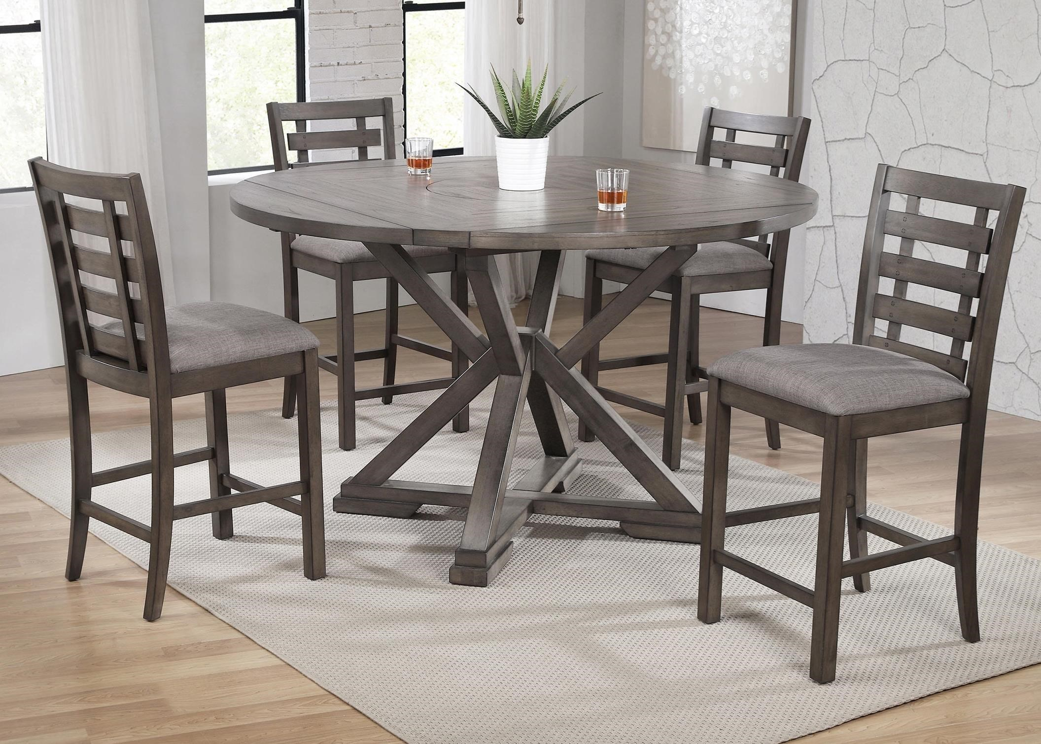 Winners Only Stratford 5 Piece Counter Height Dining Table Set Reeds Furniture Pub Table And Stool Sets