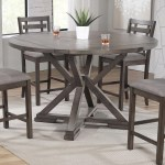 Winners Only Stratford Counter Height 60 Round Tall Table W Lazy Susan And Drop Leaves Crowley Furniture Mattress Pub Tables