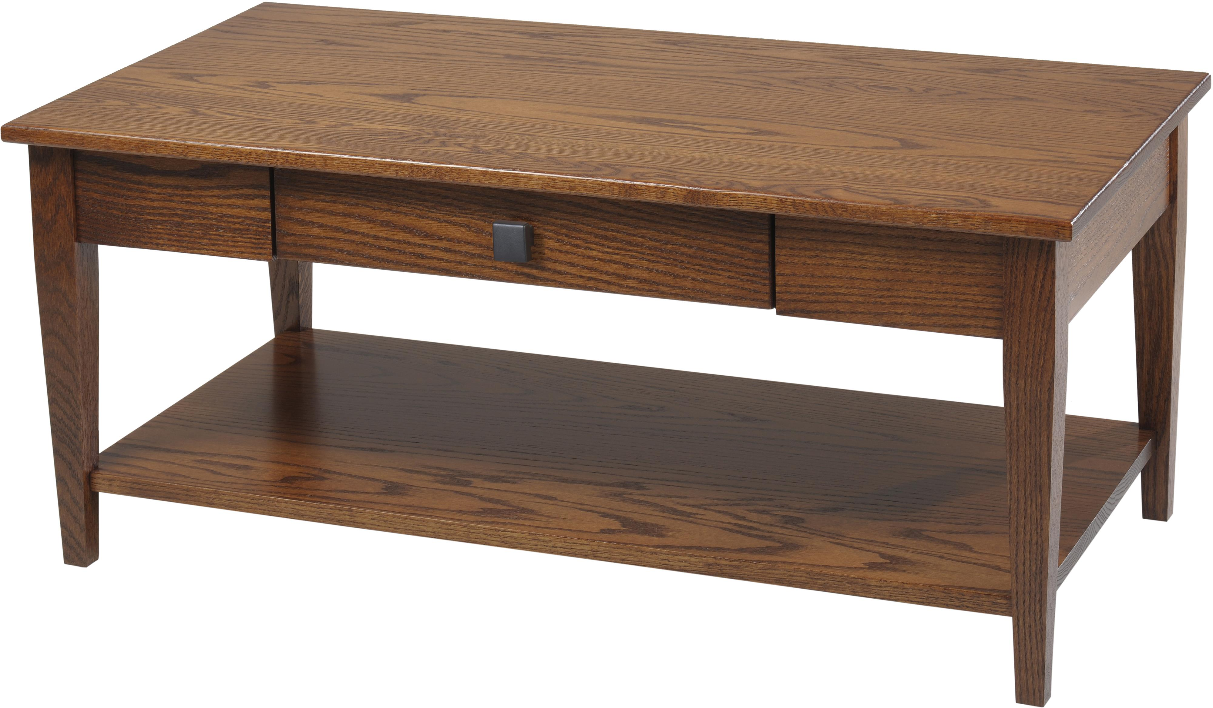 woodland shaker coffee table with shelf