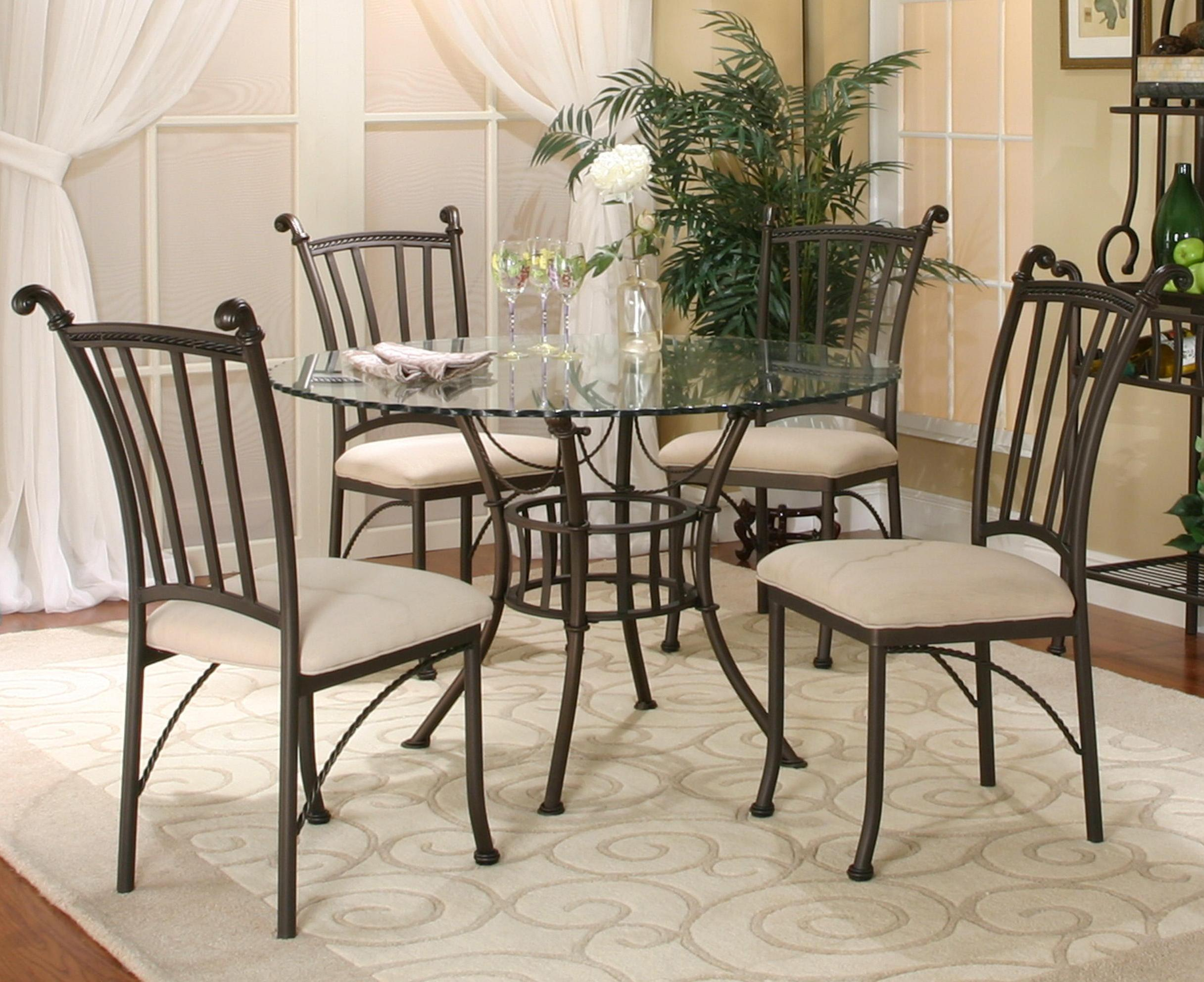 It's rare that west elm has. Cramco, Inc Denali 5 Piece Round Glass Table with Chairs ...