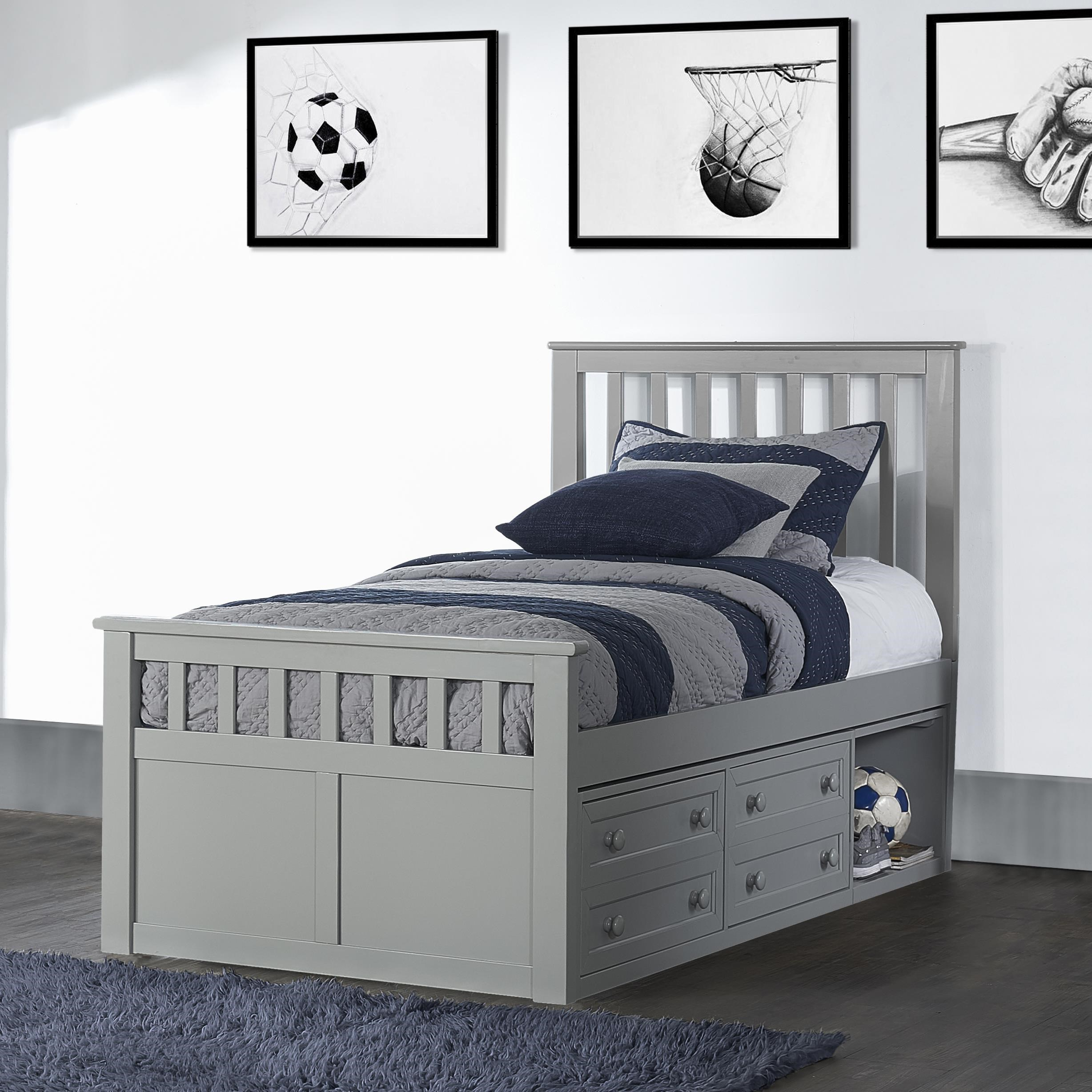 You can order online on valuecityfurniture.com or from a value city furniture store near. Hillsdale Schoolhouse Marley Mission Twin Captains Bed ...