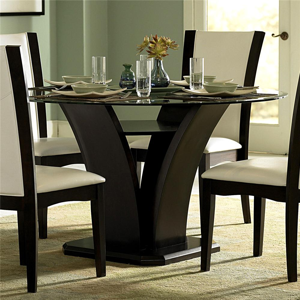 We may earn commission on some of the items you choose to buy. Homelegance 710 Round Glass Trestle Dining Table   Del Sol ...