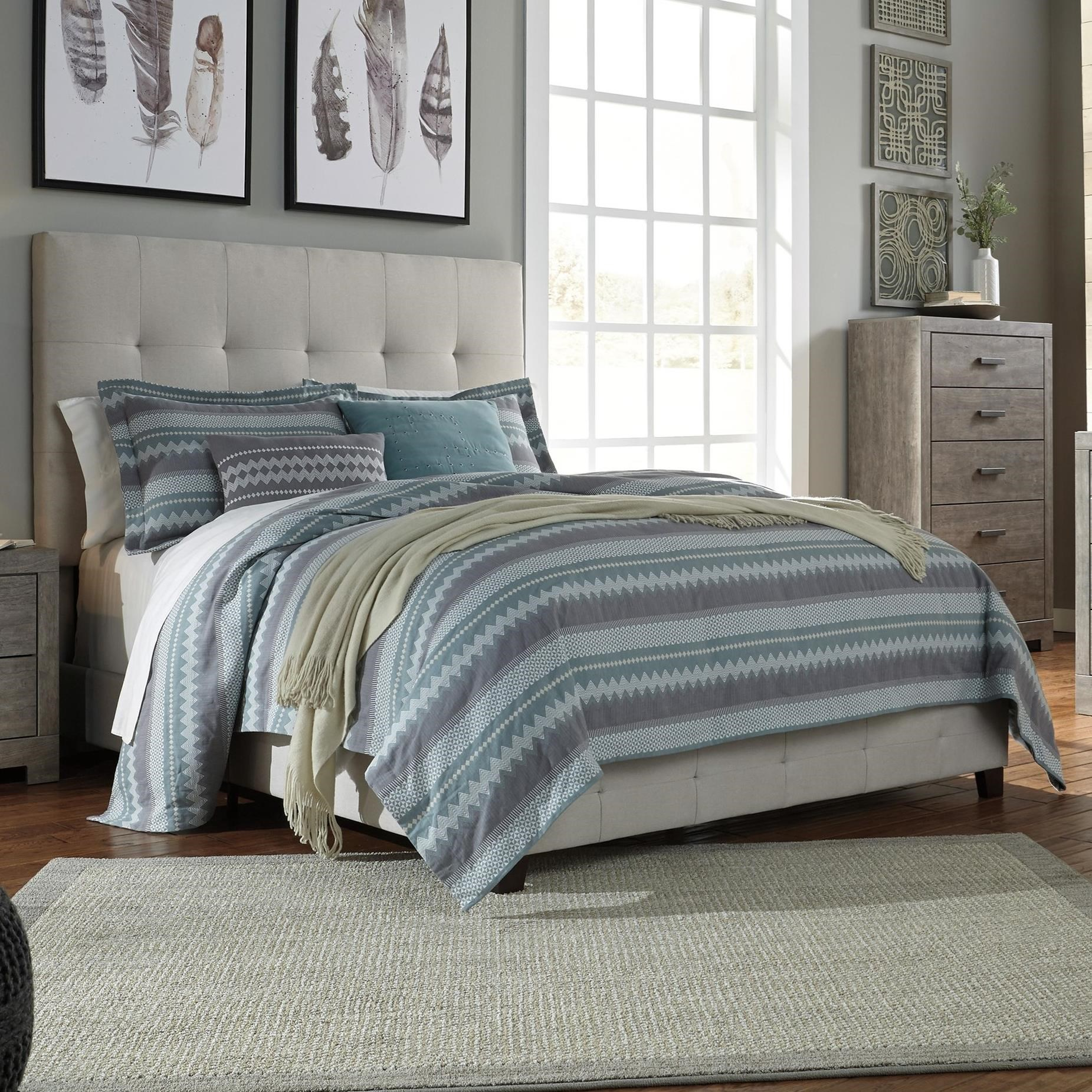 Signature Design By Ashley Dolante King Upholstered Bed W