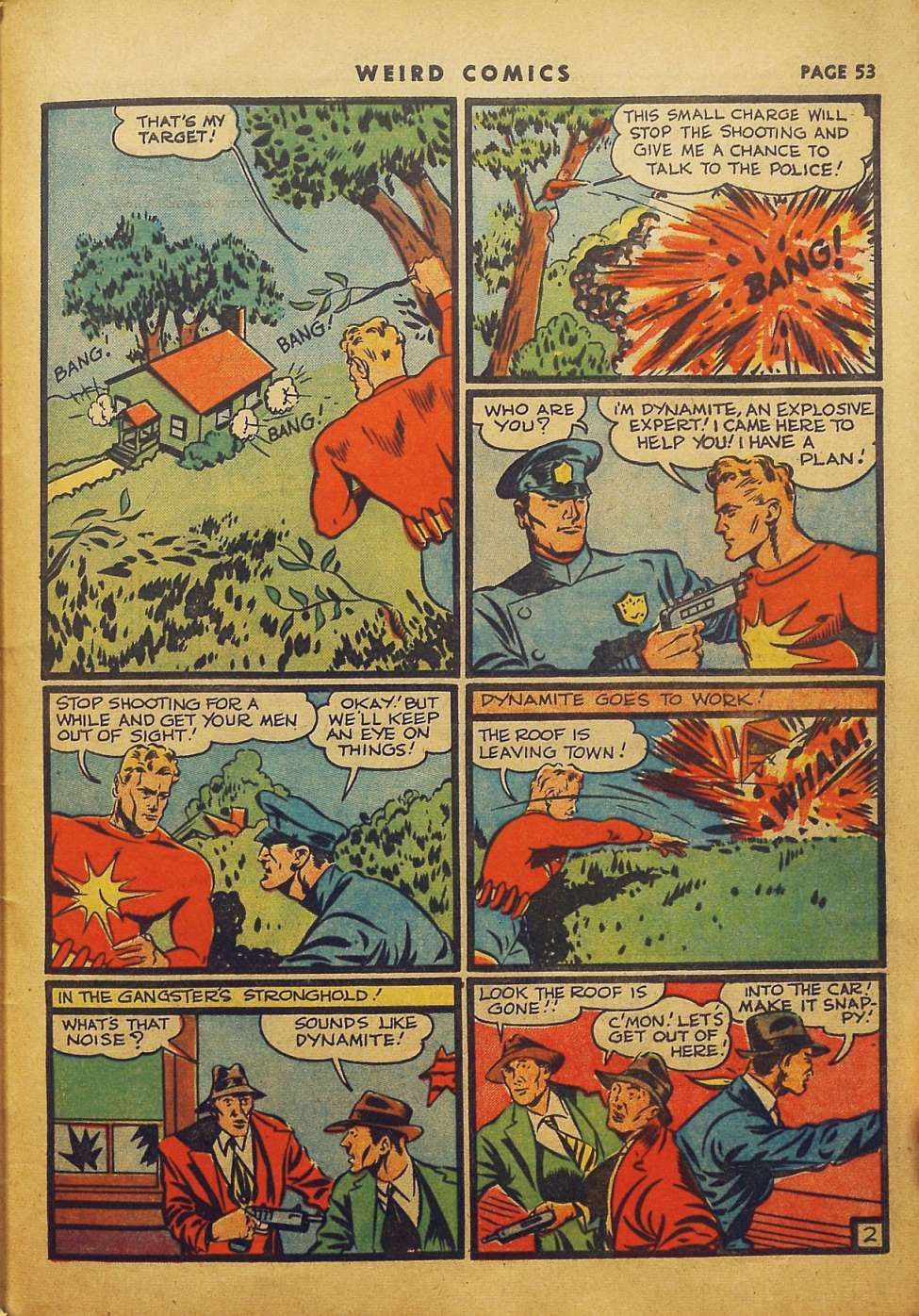 Comic Book Cover For Weird Comics #6 - Version 2