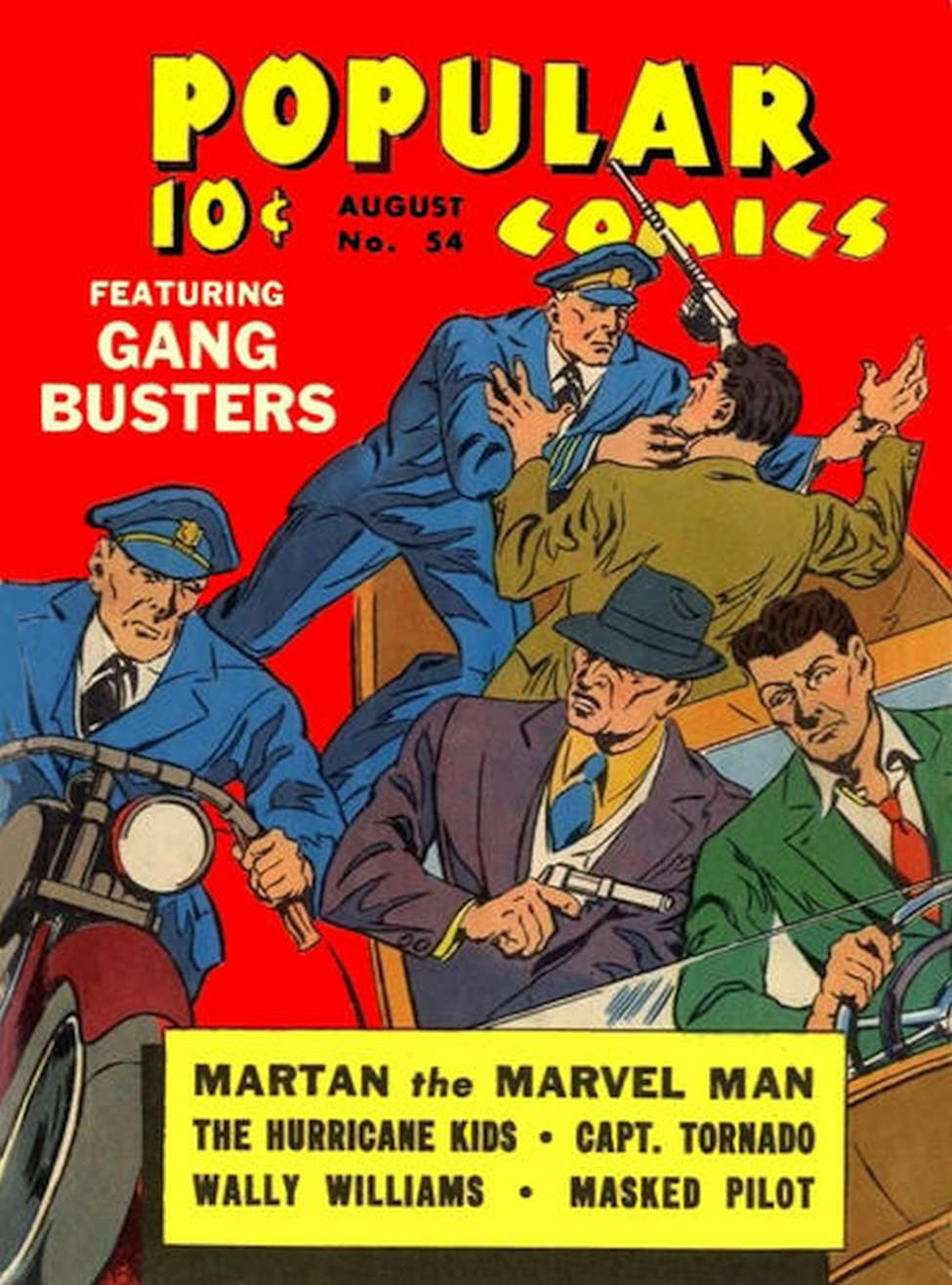 Comic Book Cover For Popular Comics #54 - Version 2
