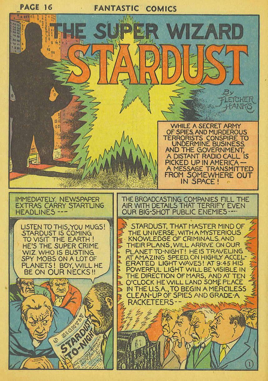Comic Book Cover For Fantastic Comics #1