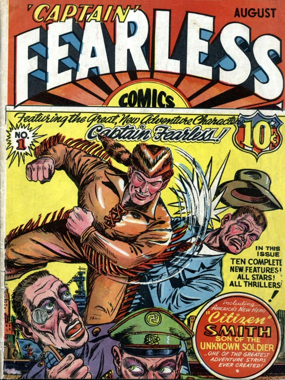 Comic Book Cover For Captain Fearless Comics #1