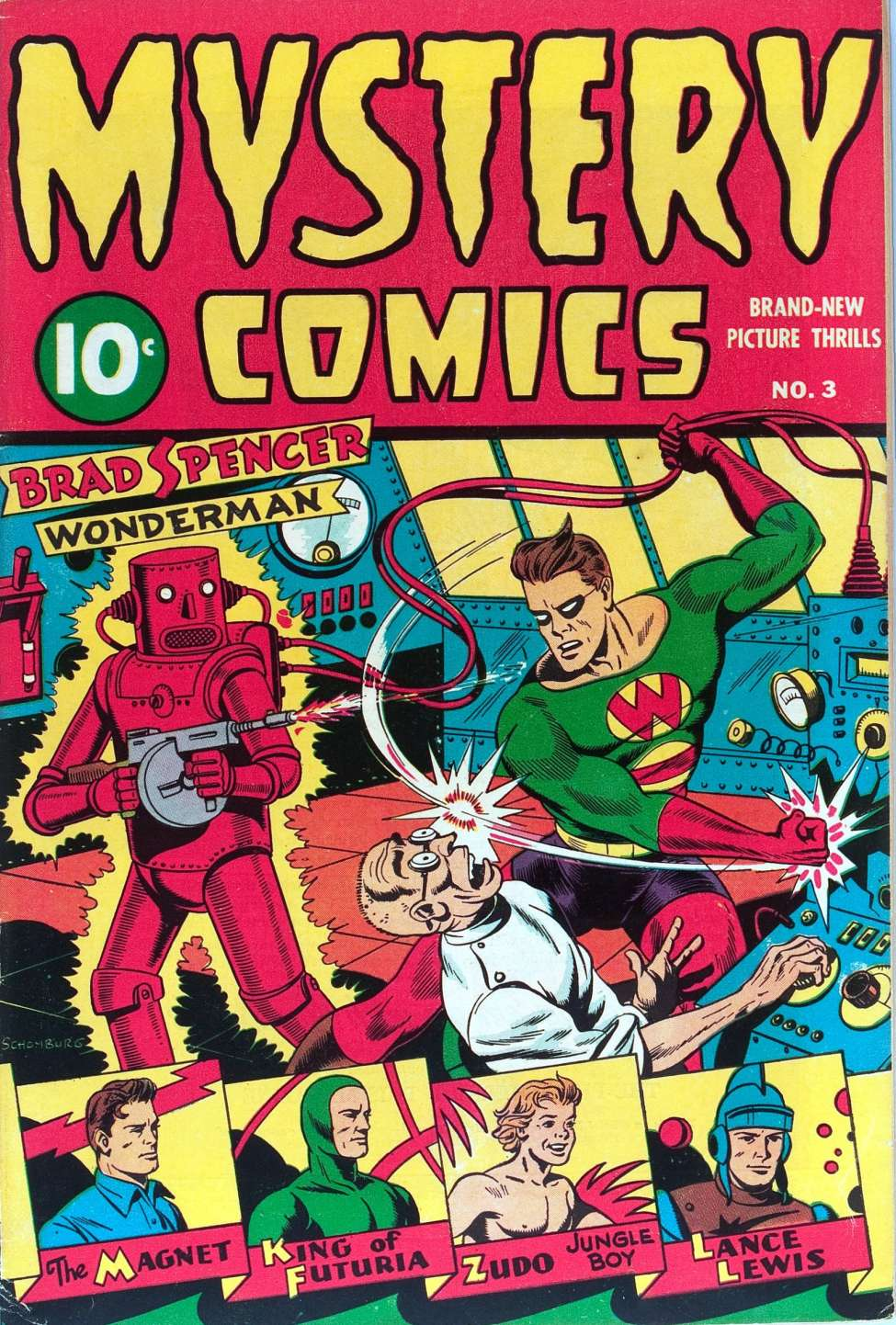 Comic Book Cover For Mystery Comics #3