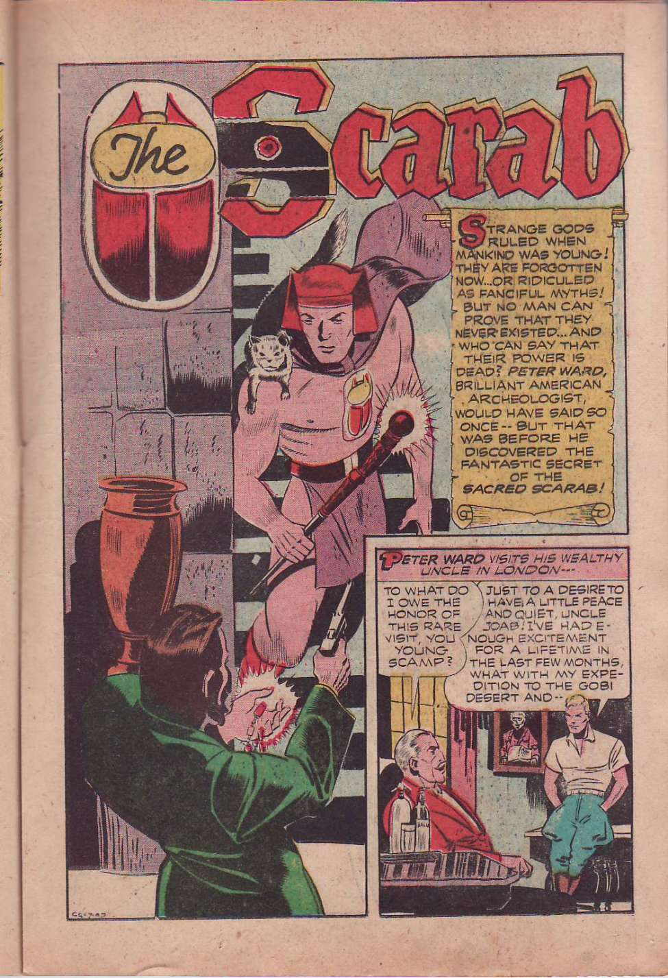 Comic Book Cover For Startling Comics #34