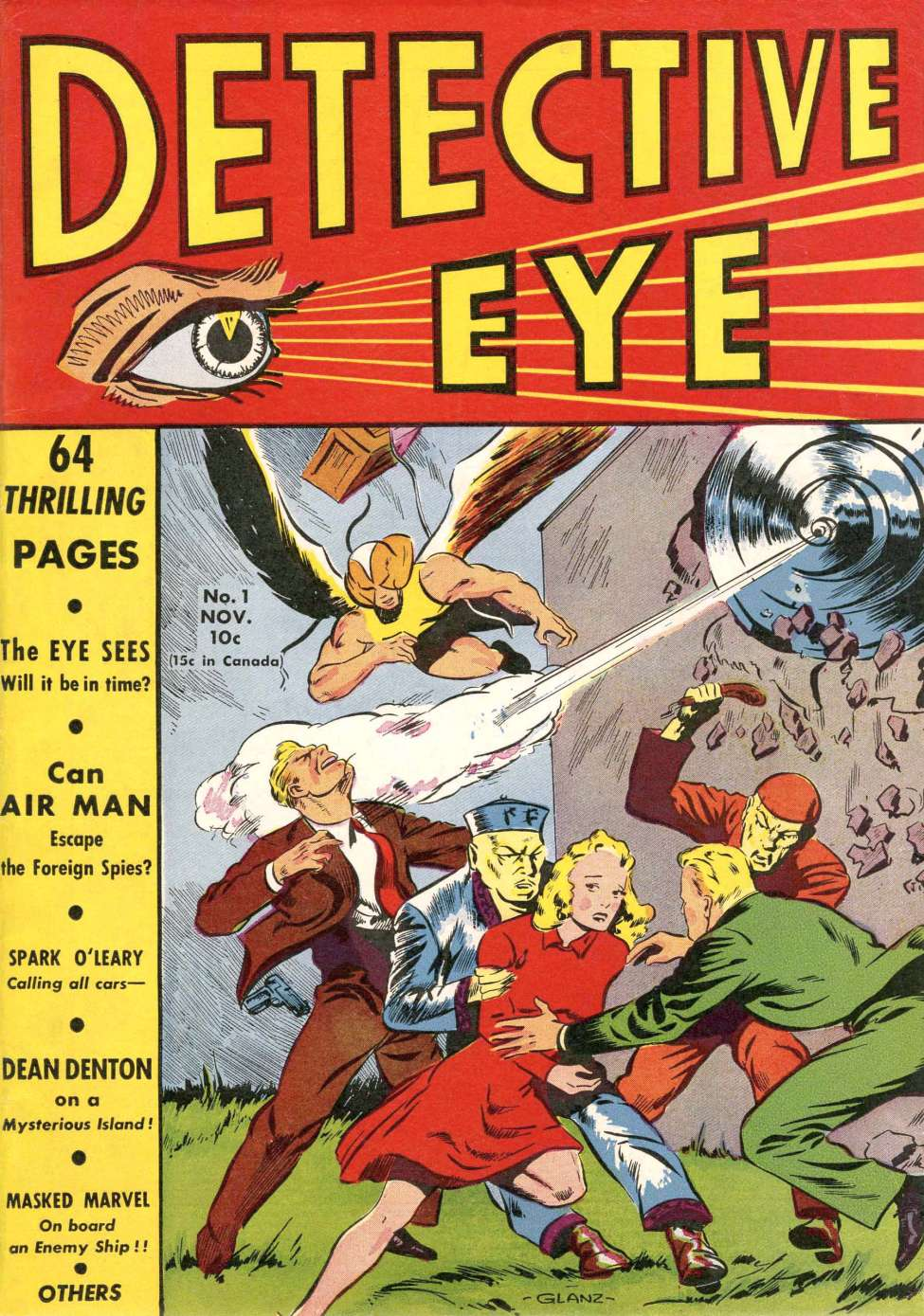 Comic Book Cover For Detective Eye #1