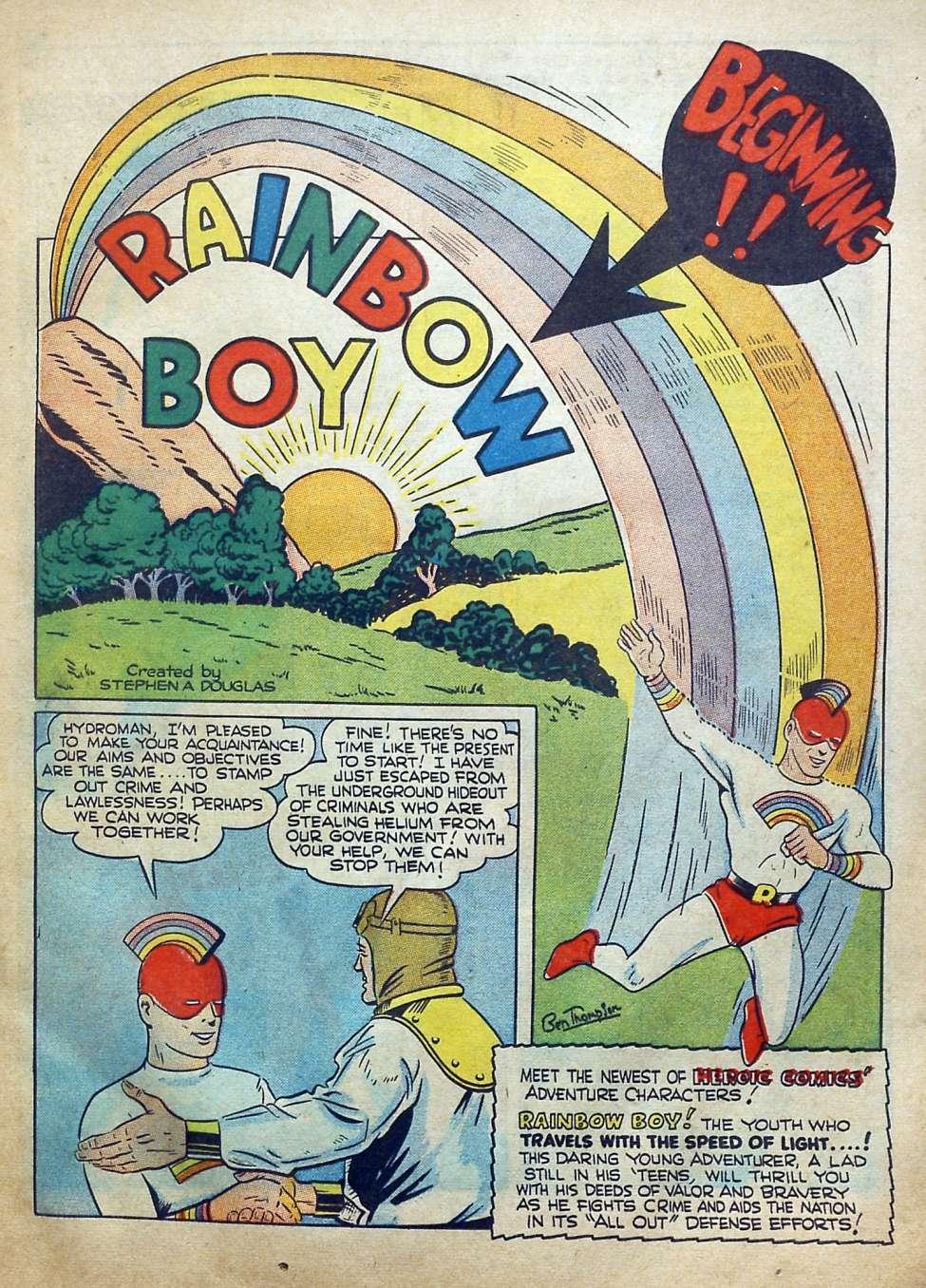Comic Book Cover For Reg'lar Fellers Heroic Comics #14