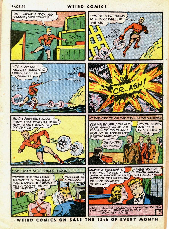 Comic Book Cover For Weird Comics #7