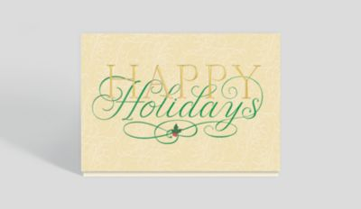 Elegant Holiday Surprise Card 300037 Business Christmas