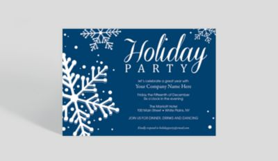 Snowfall Celebration Corporate Party Invitation 1025679