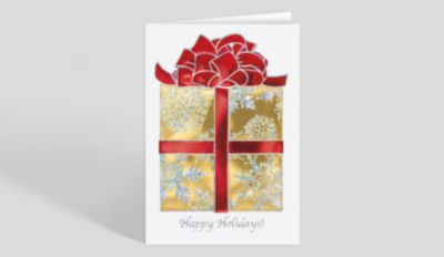 Merry Label Christmas Card 1027752 Business Christmas Cards