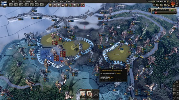 Gameplay saat mengatur divisi ketika Review Hearts OF Iron IV.