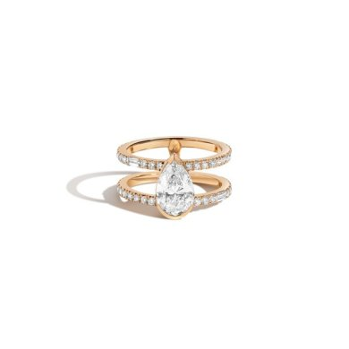 Shahla Karimi Pear Double Band Ring   Garmentory Shahla Karimi Pear Double Band Ring
