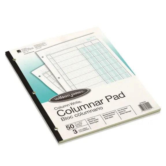 Wilson Jones Accounting Pad Three Eight Unit Columns 8 1