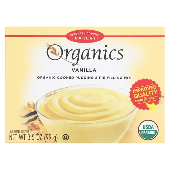 European Gourmet Bakery Organic Vanilla Pudding Mix