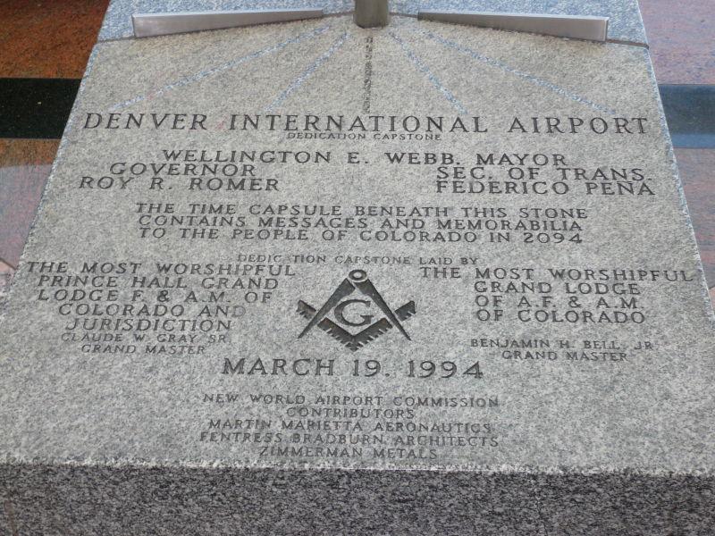 Image result for denver airport dedication marker