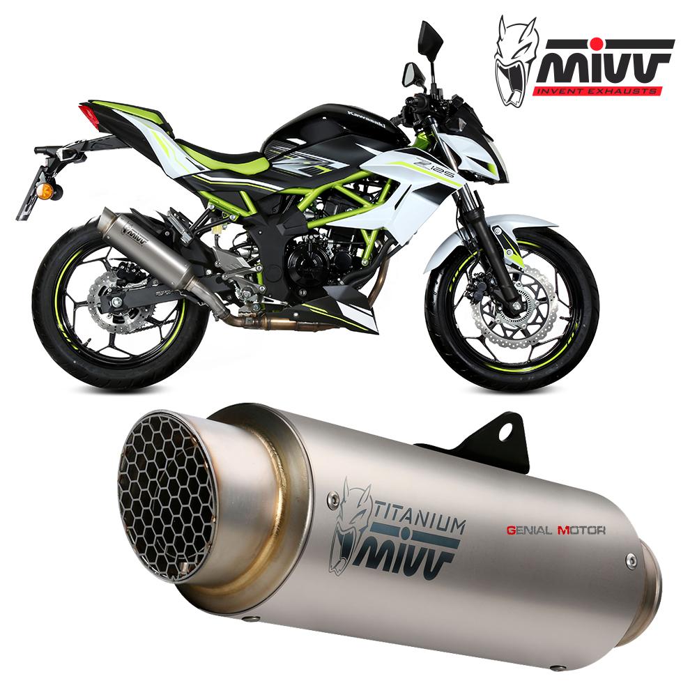mivv exhaust muffler gp pro titanium kat for kawasaki z 125 2019 2021