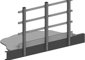 Mezzanines Platforms Stairs Mezzanines Stairs Handrail | Square Handrail For Stairs | Balustrade | Outdoor | Hand Rail | Low Cost | Residential