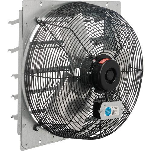 18 exhaust fan with shutter direct drive 1 8 hp single speed