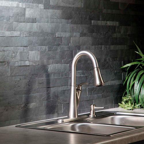stick decorative tile backsplash