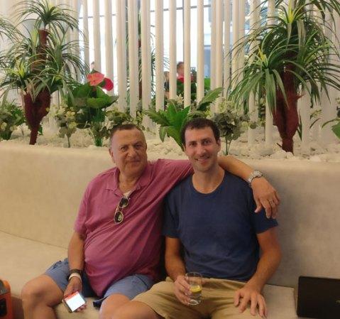תומר אביטל ואביו משה  /  צילום: פרטי