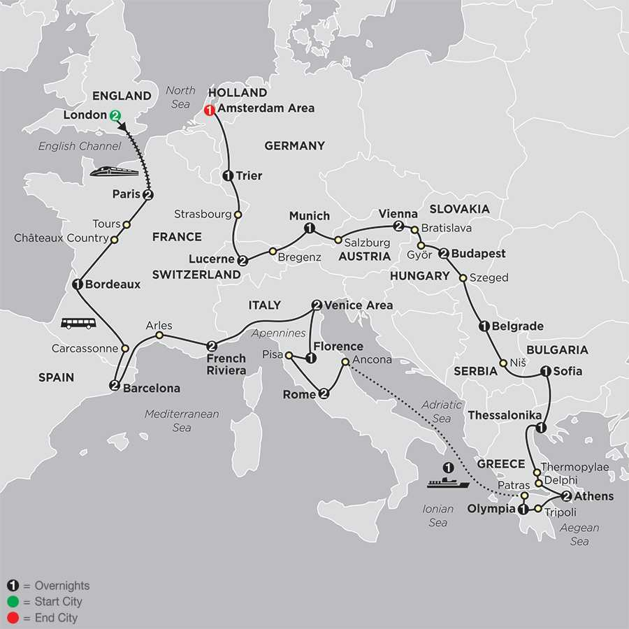 Europe Vacation Packages Including Airfare