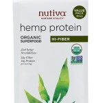 Nutiva Organic Hemp Seed Protein Powder Hi Fiber 30 Ounce