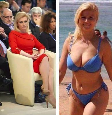 Another viral post about President Grabar-Kitarovic's bikini body