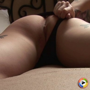 Watch as tattooed girl next door Sailor shows off her tight perfect ass as she pulls her panties aside for the camera