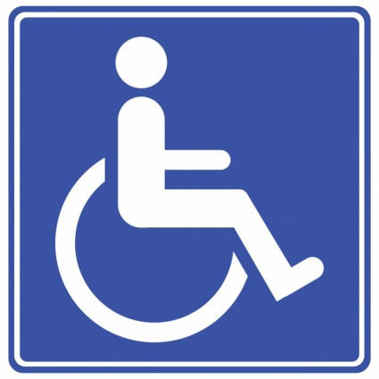 Behinderte Zeichen Blau Kostenlose Fotos Kostenloser Download