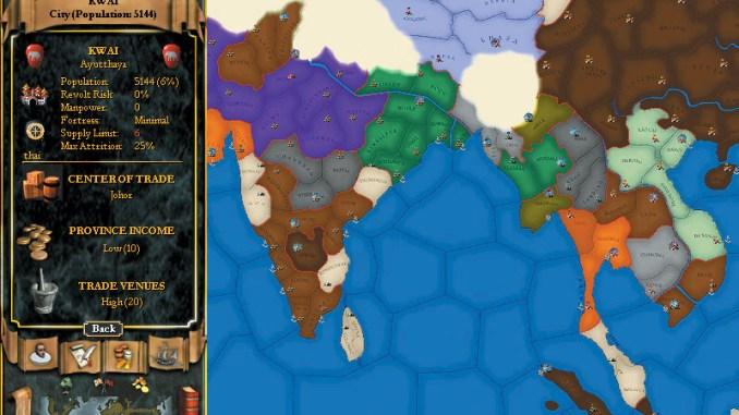 Europa Universalis II screenshot 2