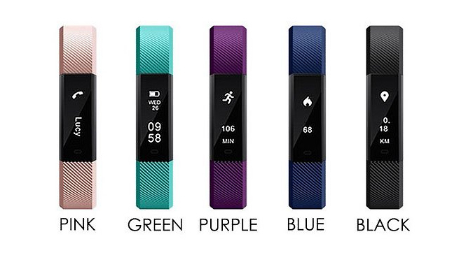 12-in-1 Touchscreen Fitness Tracker with Optional Heart Rate...