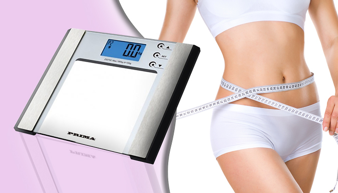 7-in-1 Digital Body Fat Monitoring and Weighing Scale