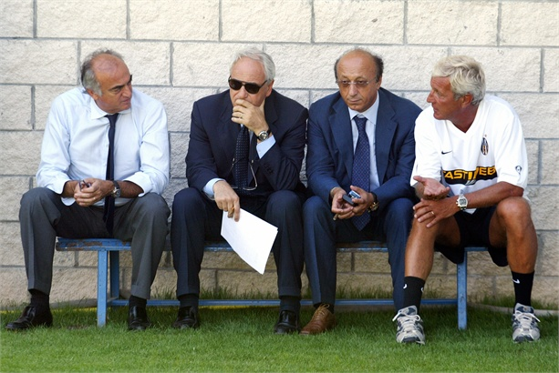 Moggi con Giraudo, Bettega e Lippi ai tempi di Calciopoli