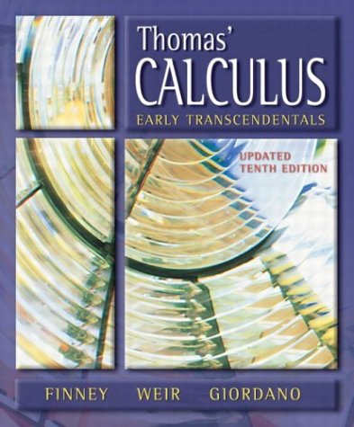 Thomas' Calculus, Early Transcendentals Update